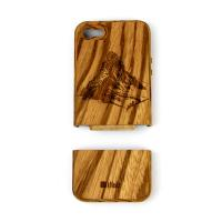 iPhone 5 5S Cover zebra wood